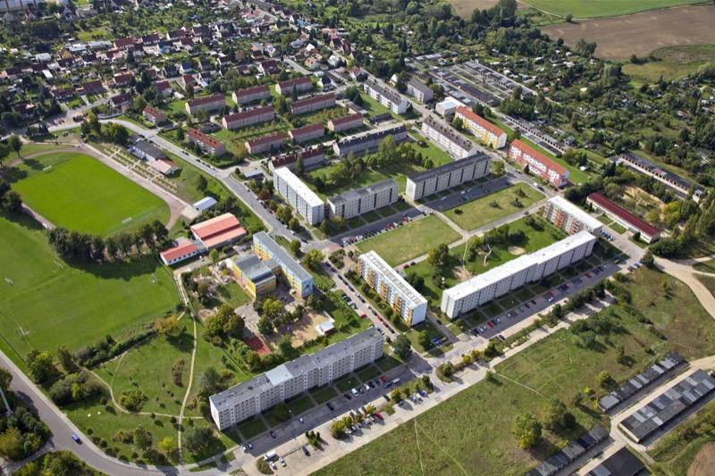 Dieses Wohngebiet befindet sich direkt am Biosphährenreservat
